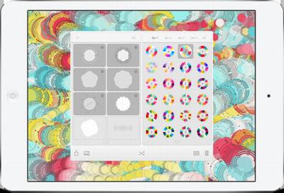 抽象的で美しい壁紙を作成することができるFabrikaも,Creative SDKを用いて開発されている