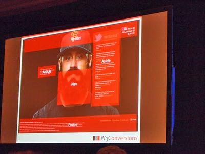 2010年シーズン,ワールドチャンピオンとなったサンフランシスコジャイアンツには髭を生やした選手が多数いた。そのうちの1人を例に,HTML5の要素を解説