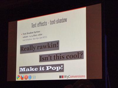 text-shadowを利用するとリッチな表現が可能になる