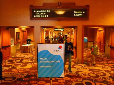 MIX11 Participants Onlyの看板。期間中,ここから先はMIX11参加者だけのもの