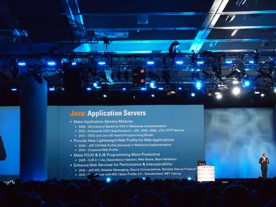 アプリケーションサーバとしてのJavaについて説明するKurian氏。