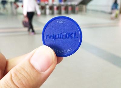 LRTのチケット。台湾と同じコイン型です