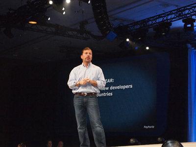 PayPal President,Scott Thompson氏。同氏のコメントから,開発者たちへの多大な期待を持っていることがうかがえた
