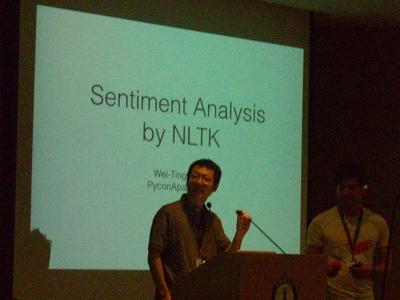 写真1 Wei-Ting Kuo氏によるNLTKを使った感情分析