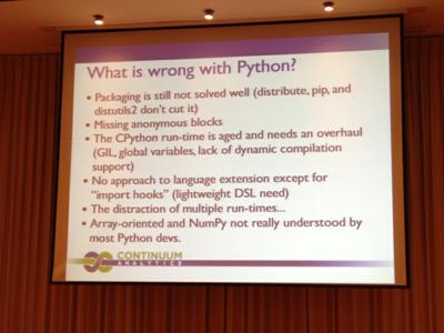 Pythonの悪いところ