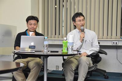 「答える側」のGClue 佐々木陽氏(左)と日本コロナの会 山本直也氏