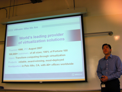 写真3:VMware, Inc. Product Management&MarketingのWarren Wu氏