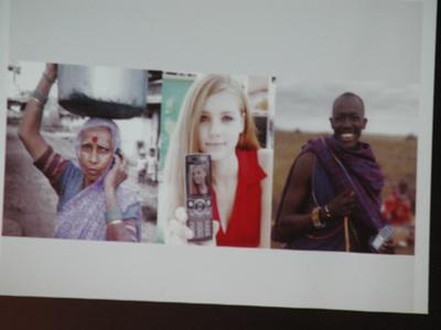 写真6 モバイルWebにおける進化の可能性を示唆した時のスライド