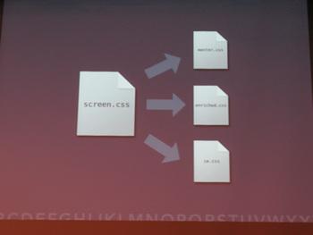 写真4 CSS3で実装されるプロパティを利用する場合はCSSを分けて記述する