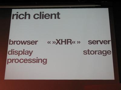 写真5 Rich clientに対する,Ajaxの概念図