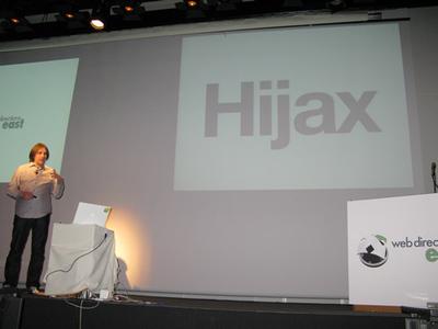 写真4 Hijaxについて説明するジェレミー・キース氏