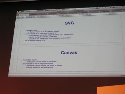 写真2 SVGとCanvasの説明時のスライド