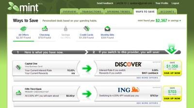 Mintのサービス画面のイメージ(TechCrunch)