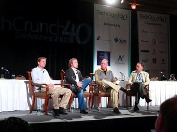 左からフィロ,ハーレー,アンドリーセン,モリッツ(TechCrunch)