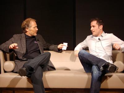 ティム・オライリー氏(左)とエヴァン・ウィリアムス氏(右)