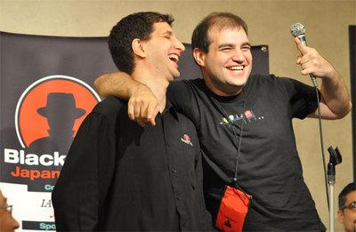 基調講演後の記者会見にて:Black Hat CEOのJeff Moss氏とKaminsky氏