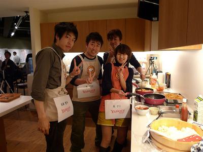 Yahoo! JAPANチーム 澤田哲也氏,谷津哲平氏,一条裕仁氏,禹ナリ氏。