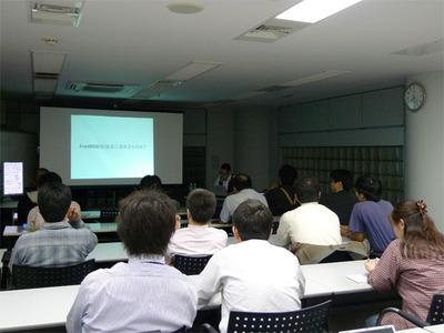 第0回のプレゼンテーションを担当した(有)オングス 後藤大地氏
