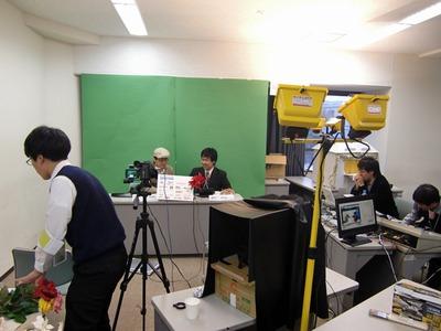 ニコ生放送スタジオ風景。