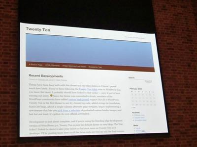 新デフォルトテーマTwenty Ten。すっきりとしたビジュアルになっている。