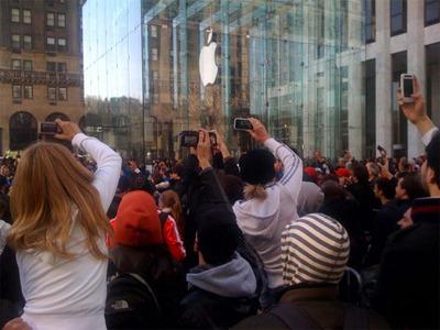 Apple Store開店の瞬間