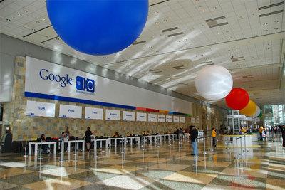 朝一番,Google I/O開場直後の受付の様子