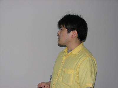 図1 第5回勉強会のプレゼンターを務めた河部展氏。