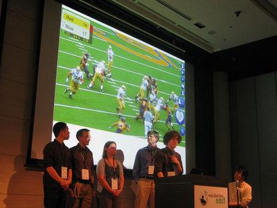写真4 HTML5周辺技術を組み合わせてサイトを制作したチーム