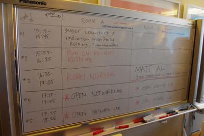 ホワイトボードに描かれた即席のプログラム