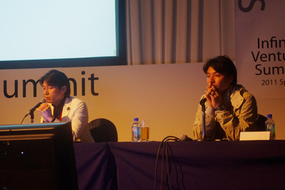 左:GMO熊谷氏,右:CA藤田氏。両者の対極的な考え方が面白い