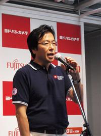 イベントで挨拶するマイクロソフト 樋口社長