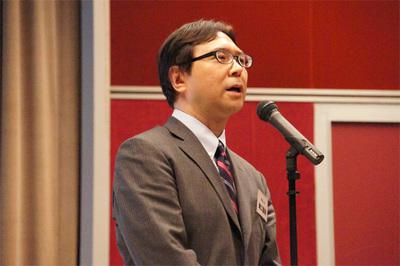 オープニングの挨拶に立ったeBP代表幹事の滝口直樹氏(マイナビ)。
