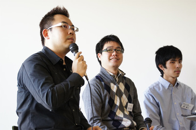 左から馮,竹迫氏,林氏