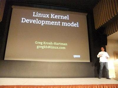 Linuxコミュニティの開発モデルについて語るGreg Kroah-Hartman氏