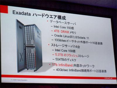 Intel Core168個!/フラッシュストレージ5.3T!を誇るExadata