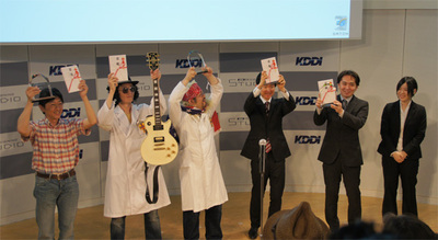 受賞者の皆さん。左から準グランプリのICD-クリエイティブチーム,特別賞の雑魚雑魚(2人),グランプリのARレントゲン制作チーム,特別賞の5 stars(2人)。