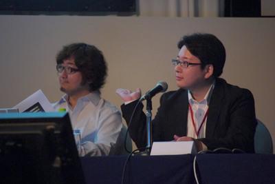 左側:NHN Japan代表取締役の森川氏。右側: NHN Japan執行役員の舛田氏