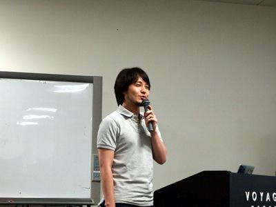 クラウドスポンサーのAmazon Web Servicesから,堀内康弘氏。DynamoDBなどについて紹介しました