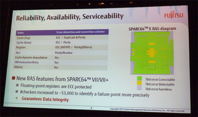 SPARC64 Xは信頼性を徹底的に追及,全回路にエラー検出機構とリカバリ機構を装備している