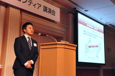 新サービスを発表する(株)IDCフロンティア ビジネス推進本部の霜鳥宏和氏