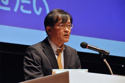 基調講演で挨拶を行うリクルートテクノロジーズCTO 米谷修氏