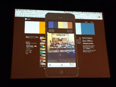 iPhone用に最適化したカラーツール「Kuler」。ネイティブアプリとして作りなおされ,iPhoneカメラと連動したカラーピッキングなどが行える