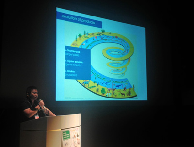 エリック・パン氏の講演では,Makerのエコシステムをより進化させていくためのさまざまな提案がなされました