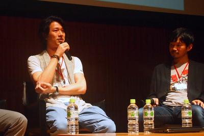 トライフォートCEO 大竹慎太郎氏(左),nanapi社長 古川健介氏(右)