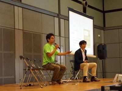 西川氏(左)と中畑氏(右)