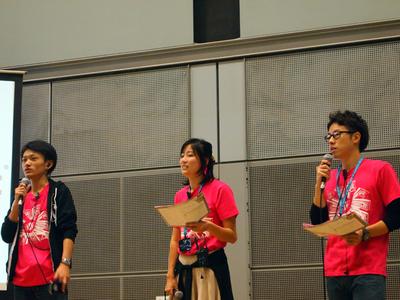 WordCamp Tokyo 2014実行委員長の,秋元さん,森山さん,清野さん