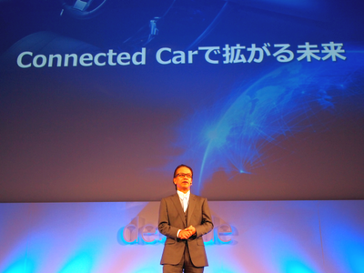 トヨタ自動車株式会社CIO 友山茂樹氏は「なぜ製造業のトヨタがシステム屋のようなところに手を出したのか」を,自身の経験と併せて紹介し,クラウドとビッグデータの効果,それを体現したConnected Carについてアツく語った