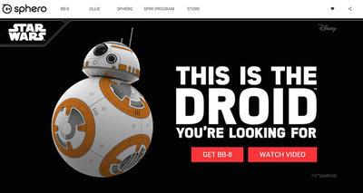 Sphero社のBB-8,直販サイト