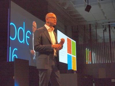 米国本社からSatya Nadella CEOが登壇。エンジニア出身でもある彼が目指す,これからのMicrosoftについて熱く語った