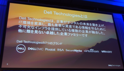 写真1 デルテクノジーグループ(Dell,EMC,Pivotal,RSA,SecureWorks,Virtustream,VMware)